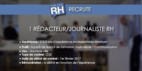 recherche emploi journaliste