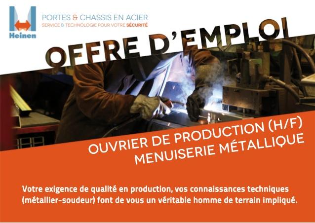 recherche emploi ouvrier de production