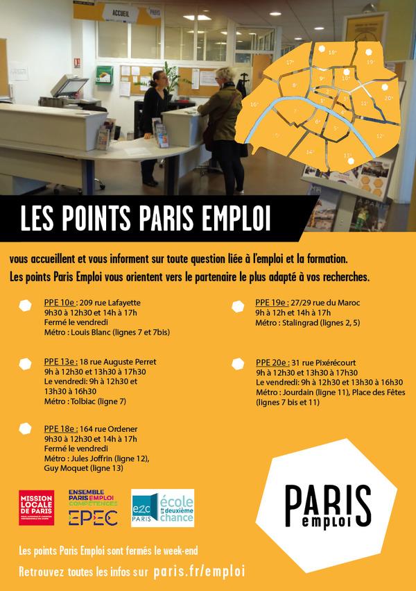 recherche emploi week end paris