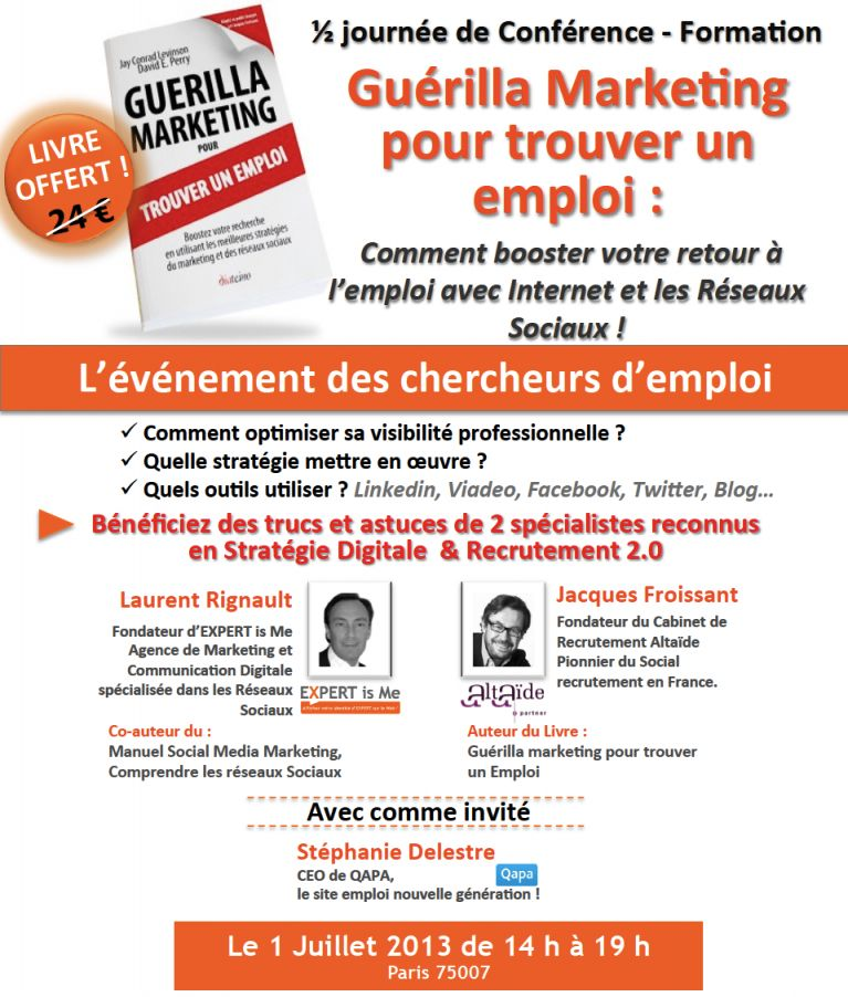trouver un emploi marketing