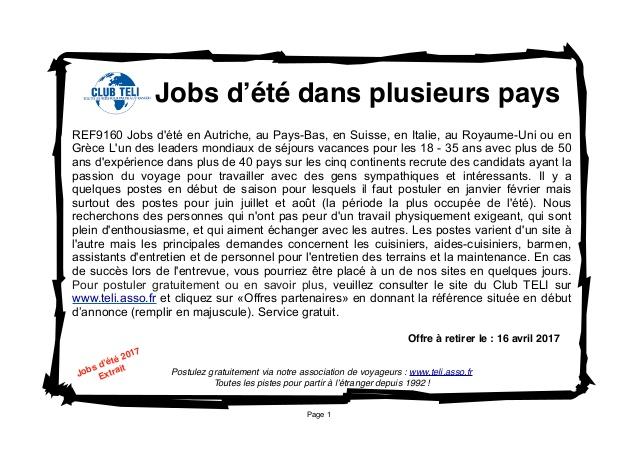recherche emploi etranger