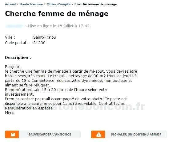 Offres d'emploi Femme de ménage à Montpellier