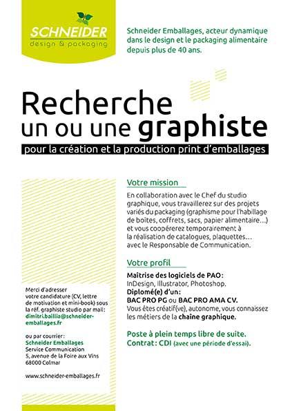 recherche emploi graphiste print