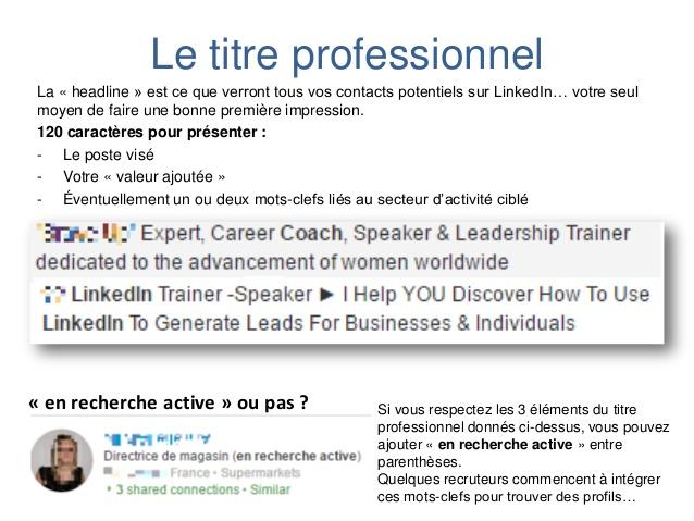 recherche emploi linkedin
